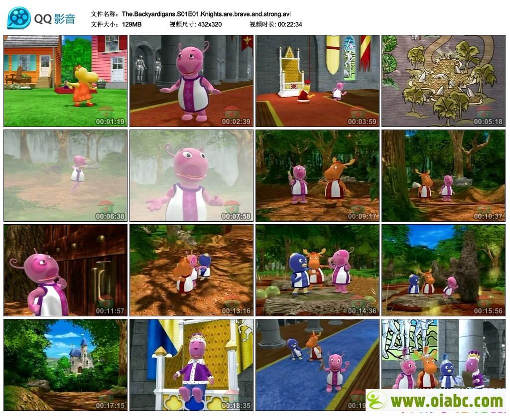 花园小子 The Backyardigans 1-4季共78集全 英文版 视频+MP3音频