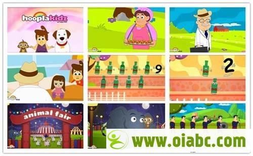 HooplaKidz儿歌童谣动画90个 You Tu be上儿童教育频道优秀节目 宝宝启蒙英语儿歌下载