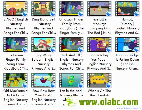 Kiddybots儿童英语儿歌曲全14首1080HD 欢乐学唱英语儿歌