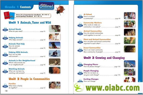 加州小学英语培生版<wbr>小学1-5年级全套<wbr>语文教材+练习册文档<wbr>非英语母语学生<wbr>ELD