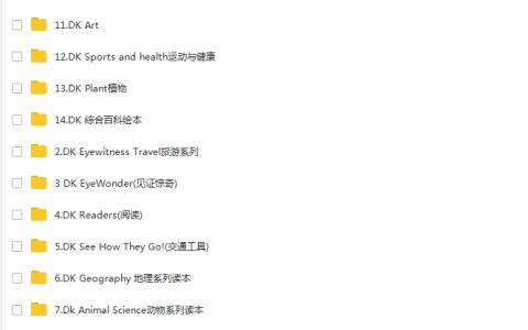 【重磅】最强DK(Dorling Kindersley)百科全书 560本精美英文 PDF绘本 儿童百科 百度网盘